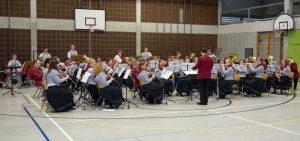 Das symphonische Blasorchester beim Wertungsspiel in Kirchehrenbach - Foto R. Stägemeier